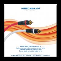 High-End Stereo RCA (Tulp) Kabel Hirschmann 1,8meter